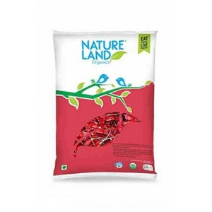 Natureland Organics Red Chilli Whole 50 Gm