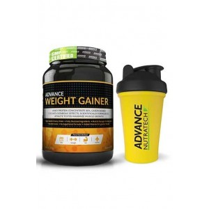 Advance Nutratech Weight Gainer 1Kg (2.2Lbs) Banana With Free Shaker
