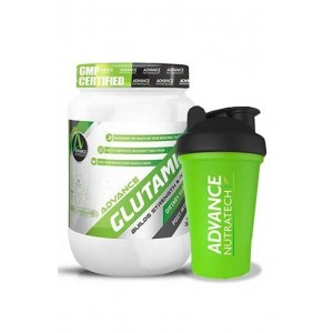 Advance Nutratech Combo Glutamine Supplement Powder 300Gm (60 Servings) Unflavoured With Shaker