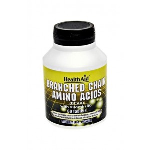 Healthaid Branched Chain Amino Acids With Vitamin B6 60 Tablets