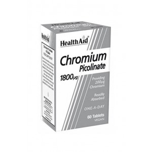 Healthaid Chromium Picolinate 200Ug 60 Tablets