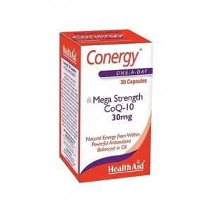Healthaid Conergy Mega Strength Coq-10 30Mg 30 Capsules