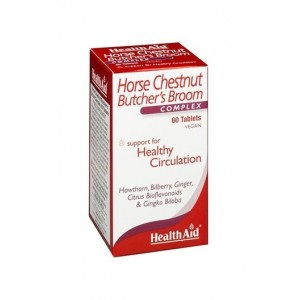 Healthaid Horse Chestnut Butchers Broom Complex 60 Tablets
