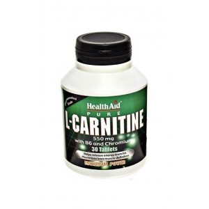 Healthaid L-Carnitine 550Mg With Vitamin B6 & Chromium 30 Tablets