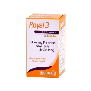 Healthaid Royal 3 (Evening Primrose, Royal Jelly & Ginseng) 30 Capsules