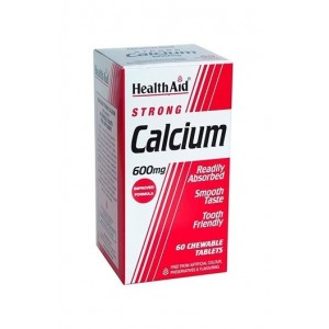 Healthaid Strong Calcium 600Mg 60 Chewable Tablets