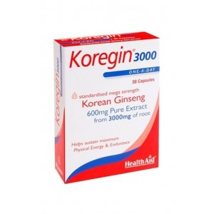Healthaid Koregin 3000 (Korean Ginseng 600Mg) 30 Capsules