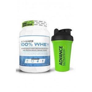 Advance Nutratech 100% Whey 1Kg( 2.2 Lbs) Chocolate + Free Shaker