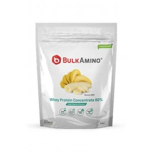 Advance Nutratech Bulkamino Whey Protein Concentrate 80 % Raw Protein 500 Gram Banana Supplement Powder
