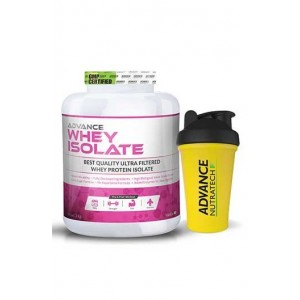 Advance Nutratech Whey Protein Isolate Powder 2Kg (4.4 Lbs) Vanilla ,Shaker Free ...