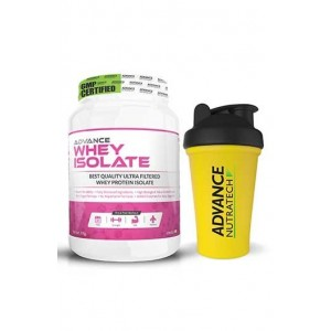 Advance Nutratech Whey Isolate Protein Powder 1Kg (2.2Lbs) Vanilla + Free Shaker Specia...