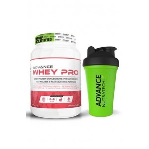 Advance Nutratech Whey Pro Protein Powder 1Kg (2.2Lbs) Chocolate With Free Shake