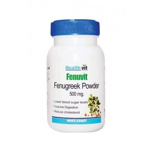 Healthvit Fenuvit Fenugreek Powder 500Mg Capsules