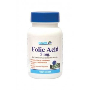 HealthVit Folic Acid 5mg 60 Tablets for Cardiac Care
