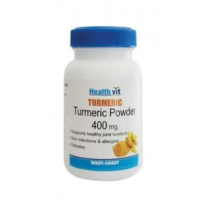 Healthvit Turmeric Powder 60 Capsules - Pack of 2