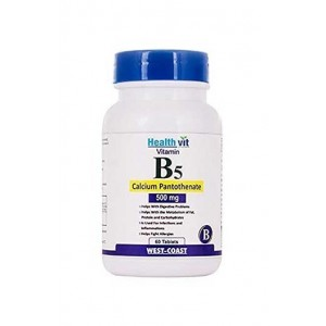 Healthvit Vitamin B5 (Calcium Pantothenate) 500Mg 60 Tablets