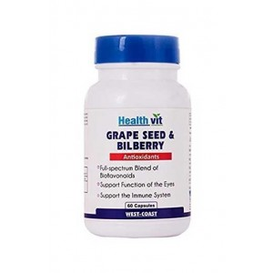 Healthvit Grape Seed Extract + Bilberry Extract 60 Capsules