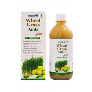 Healthvit Wheat Grass Amla Juice 500Ml