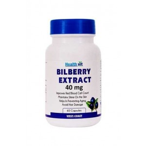 Healthvit Bilberry Extract 40 Mg 60 Capsules