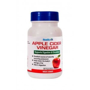 Healthvit Apple Cider Vinegar 500 Mg 60 Capsules