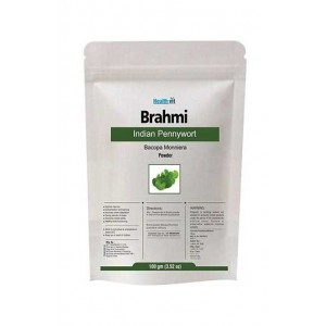 Healthvit Brahmi/ Indian Pennywort (Bacopa Monniera) Powder 100Gms