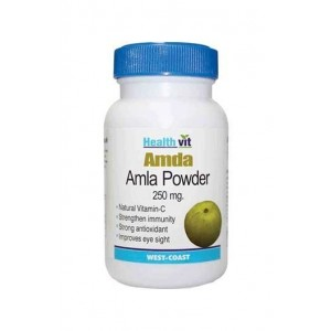 Healthvit Amda Amla Powder 250 Mg 60 Capsules Pack Of 2