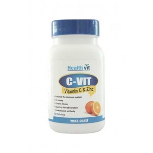 Healthvit C-Vitan -Z Vitamin C & Zinc 60 Tablets (Pack of 2)