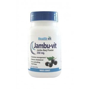 Healthvit Jambu Vit Jambo Beej Powder 250 Mg 60 Capsules Pack Of 2