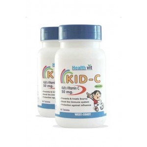 Healthvit Kid C Kids Vitamin C Chewable 60 Tablets Pack Of 2