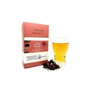 Tassyam Chai Rose Black Tea Assam Handmade