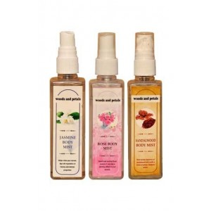Woods And Petals  Rose + Sandalwood + Jasmine Body Mist Combo