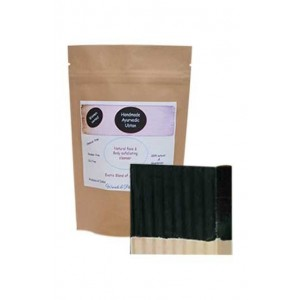 Woods And Petals Ayurvedic Ubtan And Hand Made Charcoal Soap Combo