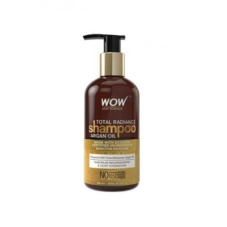 Wow Total Radiance Shampoo - Infused With Argan Oil - No Parabens, Sulphates & Silicones - 300 Ml