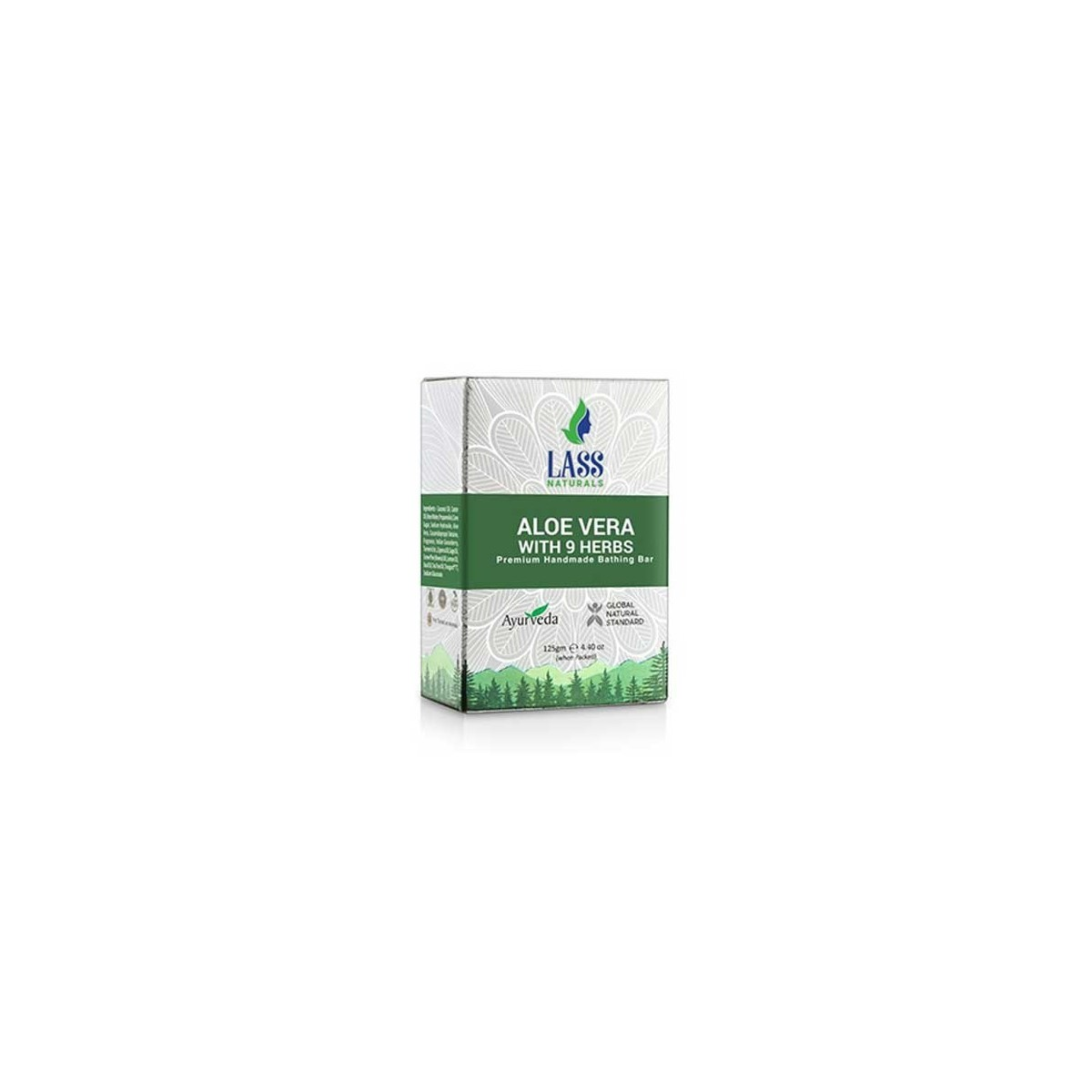 Lass Naturals Aloe Vera With 9 Herbs Soap