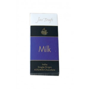 Jus'Trufs Artisanal Milk Chocolate Bar, Set Of 2