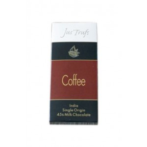 Jus'Trufs Artisanal Coffee Milk Chocolate Bar, Set Of 2