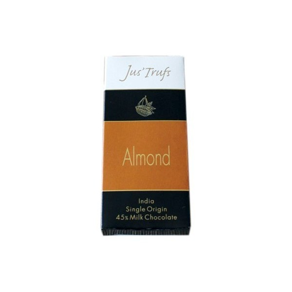 Jus'Trufs Artisanal Almond Milk Chocolate Bar, Set Of 2