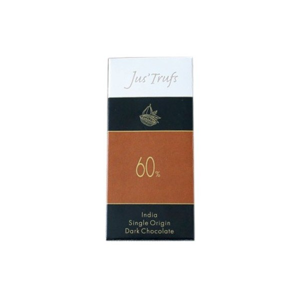 Jus'Trufs Artisanal 60% Dark Chocolate Bar, Set Of 2