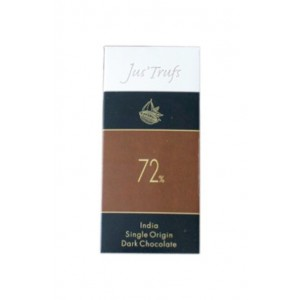 Jus'Trufs Artisanal 72% Dark Chocolate Bar, Set Of 2