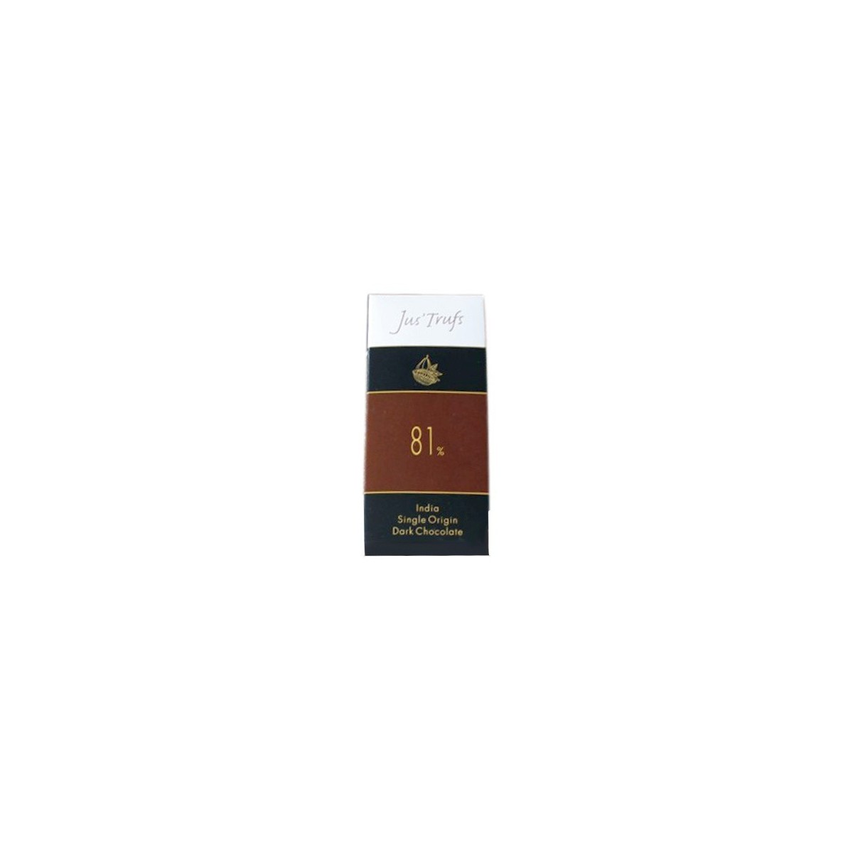 Jus'Trufs Artisanal 81% Dark Chocolate Bar, Set Of 2