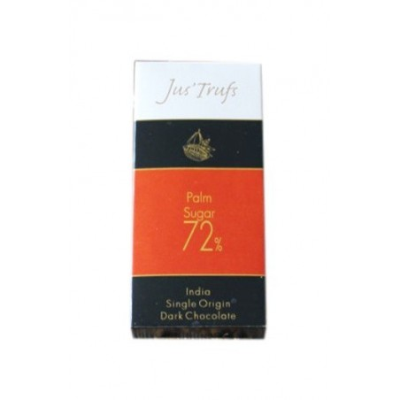 Jus'Trufs Artisanal 72% Palm Sugar Dark Chocolate Bar, Set Of 2