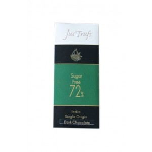 Jus'Trufs Artisanal 72% Sugar Free Dark Chocolate Bar, Set Of 2