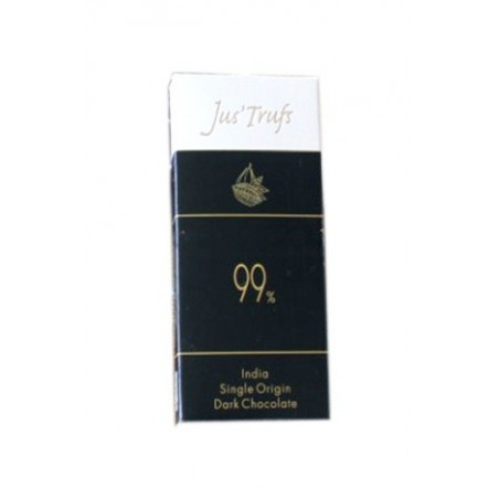 Jus'Trufs Artisanal 99% Dark Chocolate Bar, Set Of 2