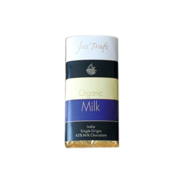Jus'Trufs Artisanal Organic Milk Chocolate Bar, Set Of 2