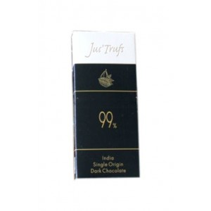 Jus'Trufs Artisanal 99% Dark Chocolate Bar 460 Gm