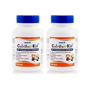Healthvit Calvitan-Kid KidΓÇÖs Calcium with Vitamin d3 60 Tablets - Pack of 2