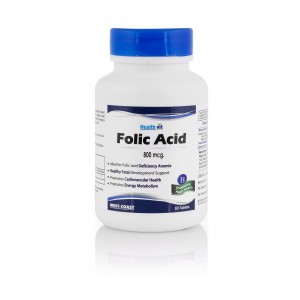 Healthvit Folic Acid 800 Mcg 60 Tablets