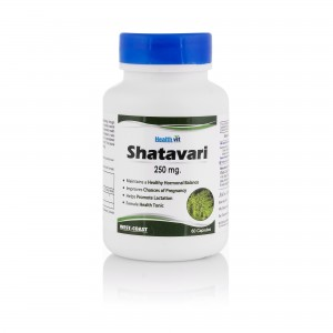 HealthVit Shatavari Powder 250 mg 60 Capsules - Pack of 2