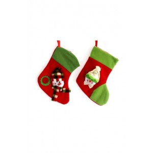Jus' Trufs Christmas Empty Stocking - 2 Pcs