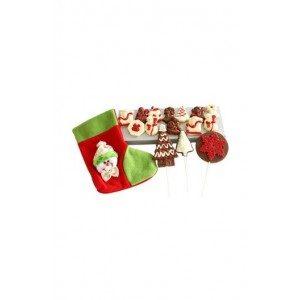 Jus' Trufs Christmas Chocolate Stocking